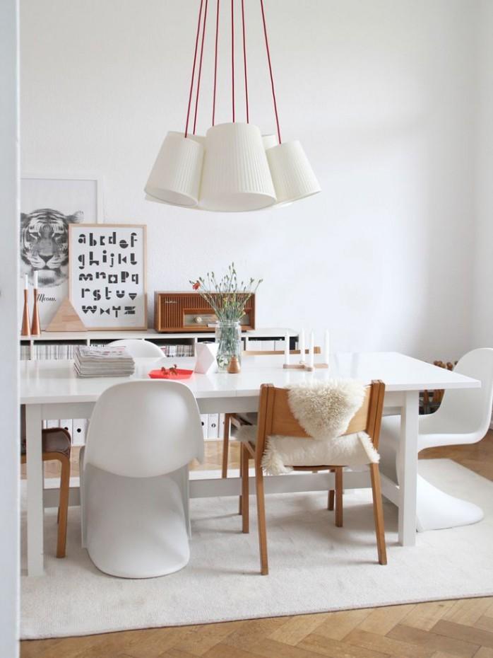 Un lampadario per il tavolo da pranzo for Maison du monde lamparas de mesa